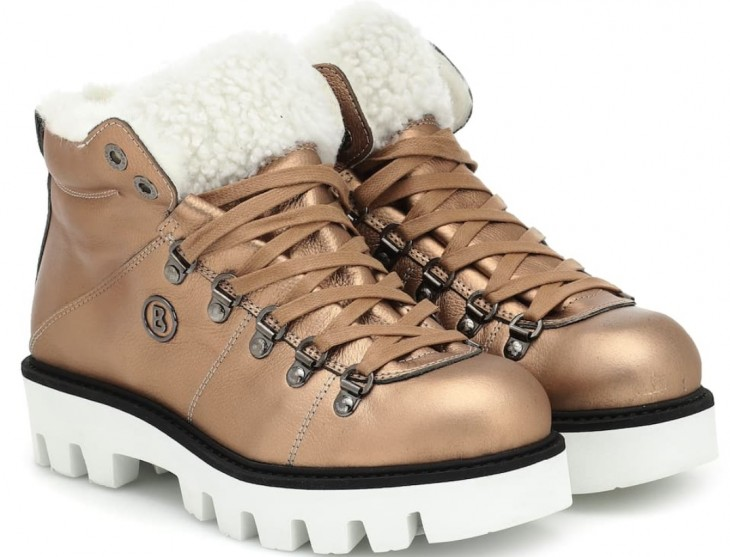 Leather snow boots