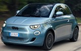The new Fiat 500e electric city car